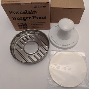 Burger Press Porcelain and Stainless Steel